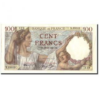 [ 211053] France,  100 Francs,  100 F 1939 - 1942 Sully,  1941,  Km:94, . photo