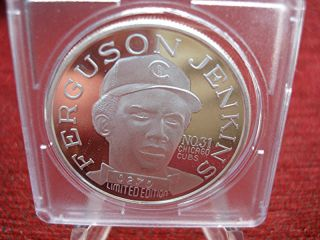 Ferguson Jenkins - Cubs - Hof 1991 -.  999 Silver 1 Oz.  Silver Round - Hot Item photo