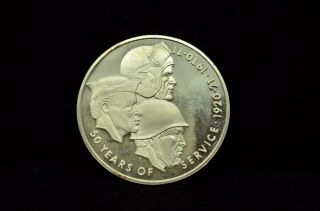 1970 Disabled American Veterans Limited Ed Proof Sterling Silver Coin Art Round photo
