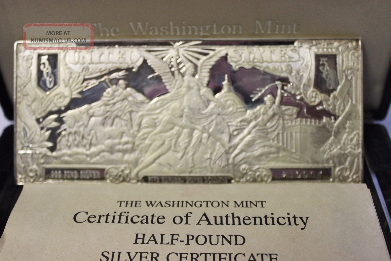 1996 8 Troy Ounces Half Pound 999 Fine Silver Bar
