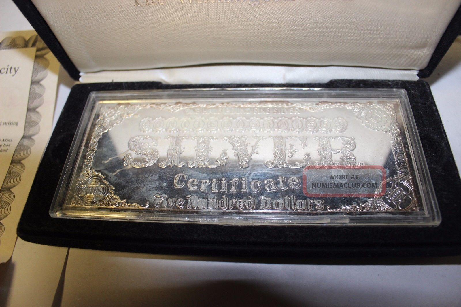 1996 8 Troy Ounces Half Pound 999 Fine Silver Bar