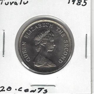 Tuvalu 20 Cents,  1985 photo
