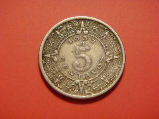 Mexico 5 Centavos,  1937 photo