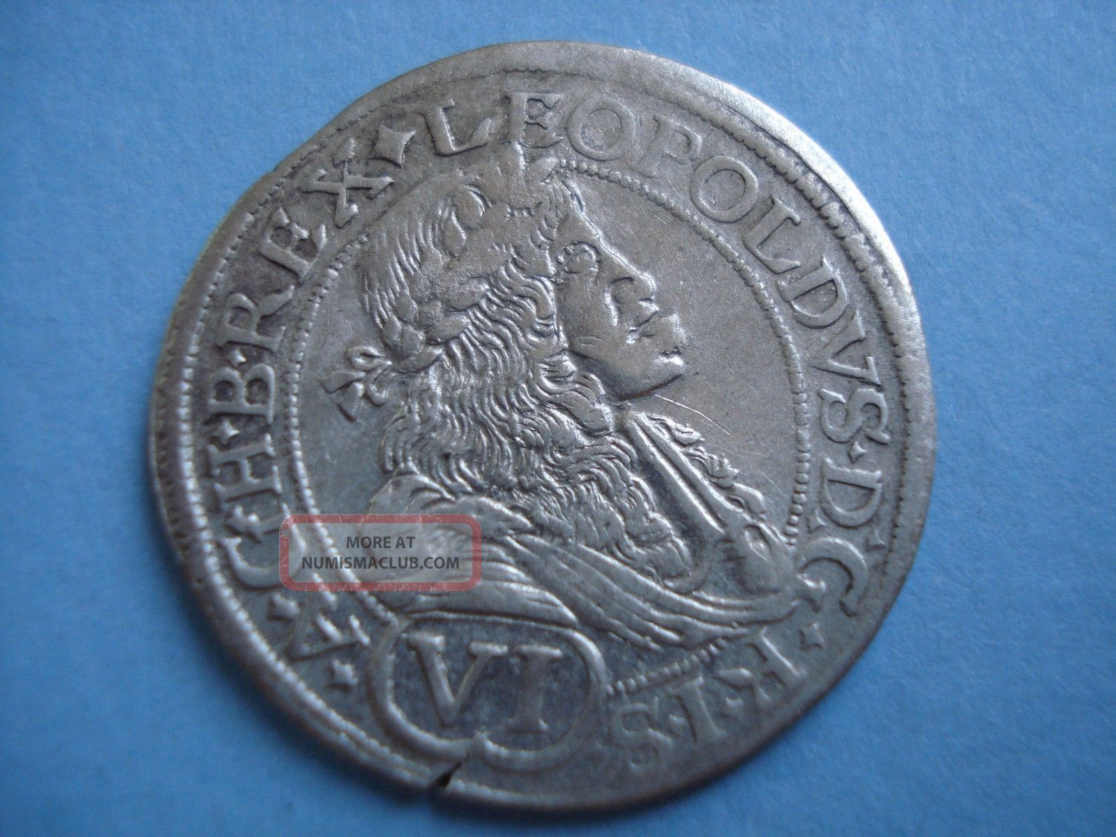1676 Hungary Pressburg Leopold I Silver 6 Vi Kreuzer Coin Europe photo