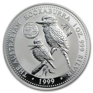 1999 Australia Kookaburra Pennsylvania Privy 1 Oz Silver Coin - From photo