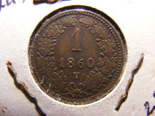 Austria 1 Kreuzer,  1860 - V photo