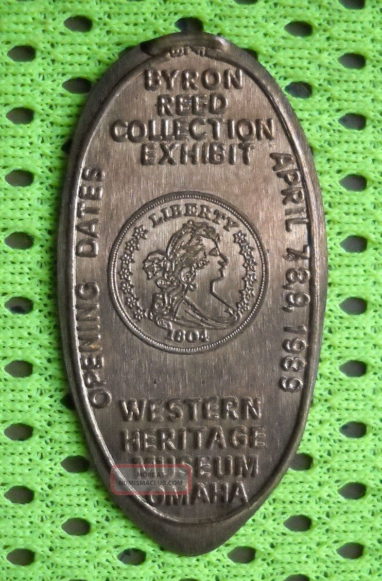 Western Heritage Museum Elongated Penny Omaha Ne Usa Cent 1989 Souvenir Coin Exonumia photo