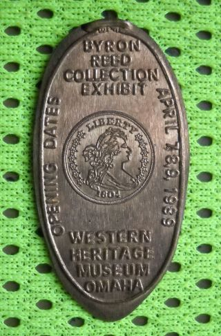Western Heritage Museum Elongated Penny Omaha Ne Usa Cent 1989 Souvenir Coin photo