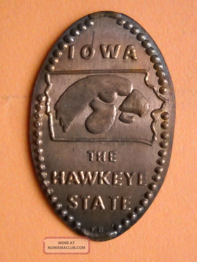 Iowa Elongated Penny Ia Usa Cent The Hawkeye State Souvenir Coin Exonumia photo
