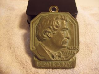 Very Rare Vintage Mark Twain Elmira Ny Bronze Plaque 4 X 3 1/2 Like Grave Site photo