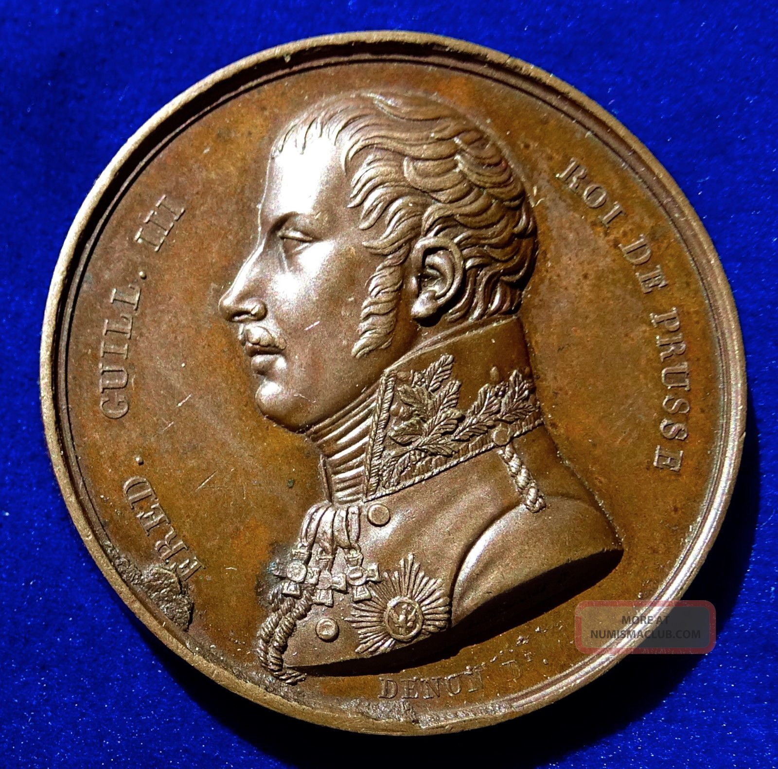 Napoleonic Wars Medal 1814,  Paris Visit By The King Of Prussia. Exonumia photo