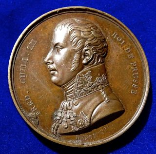 Napoleonic Wars Medal 1814,  Paris Visit By The King Of Prussia. photo