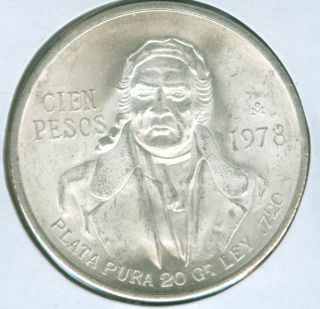 1978 Silver Mexico Cien - 100 Pesos (1721265) photo