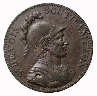 1791 Great Britain Hampshire Southhampton Halfpenny Conder Token D&h - 89 photo
