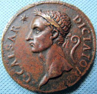 Medieval Era? Paduan? Bronze Medal - Roman Style Caesar Dictator Veni Vidi Vici photo