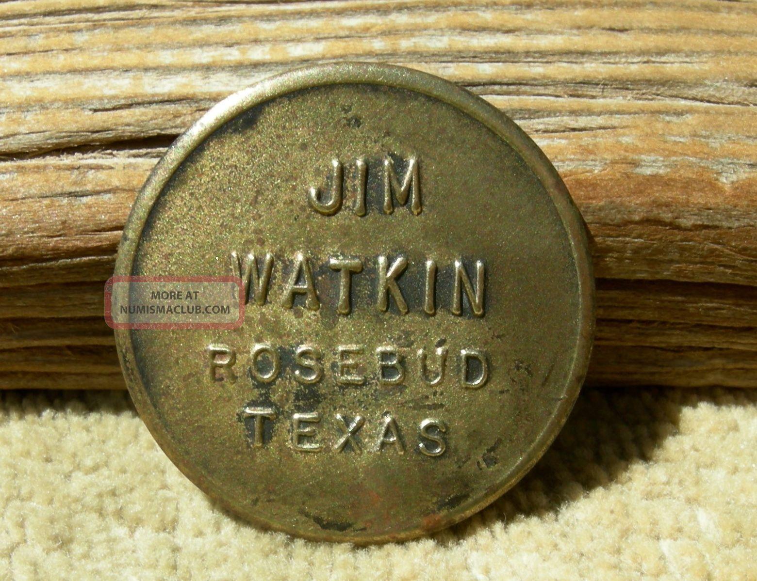 Vintage Rosebud Texas Tx (tiny Falls Co)