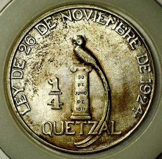 Guatemala • 1/4 Quetzal 1925 (p) • Nobles Below Scroll photo