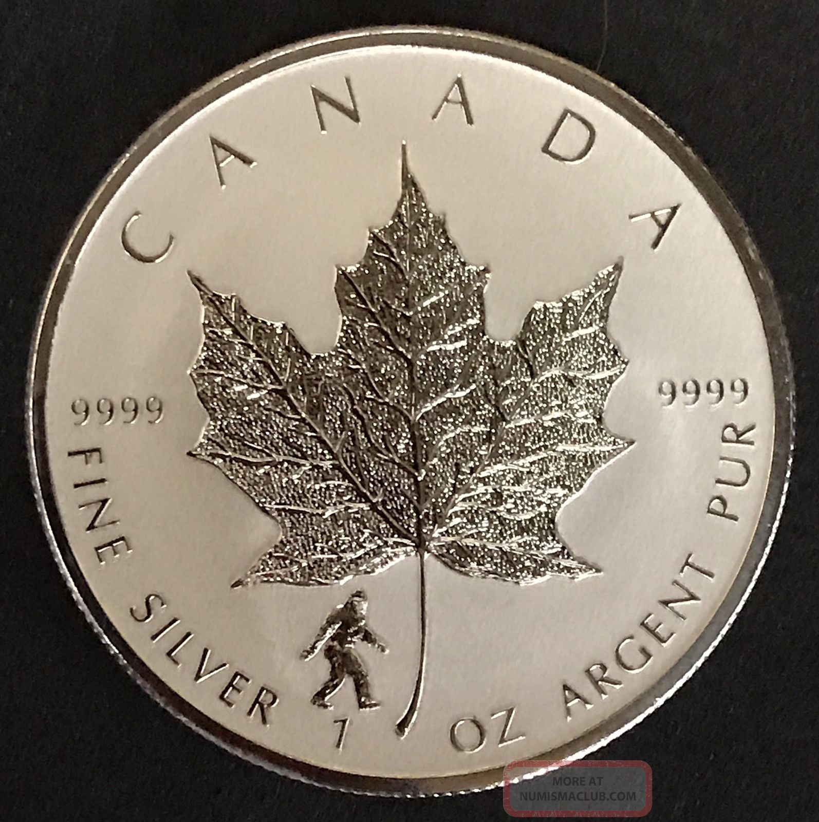 2016 Quot Bigfoot Privy Quot 1 Oz Canadian Silver Maple Leaf