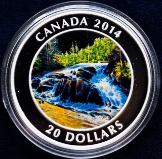 Royal Canadian 2014 $20 Fine Silver Coin: River Rapids (box, ) photo