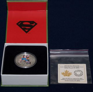 Royal Canadian 2014 $20 Silver Coin: Superman Action Comics 1 (box, ) photo