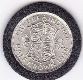 1946 King George Vi Half Crown (2/6d) - Silver (50) Coin photo