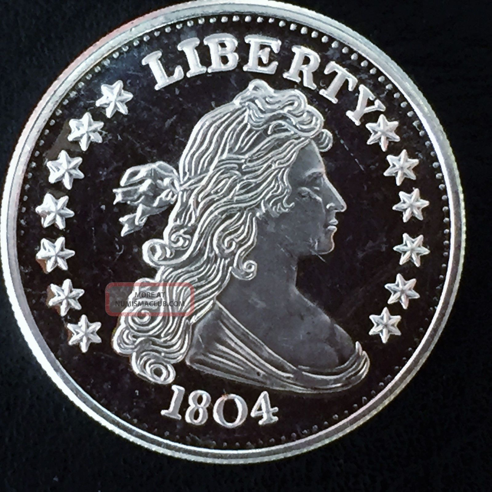 Liberty 1804 Bust Dollar Design Quot Copy Quot 1 Troy Oz 999