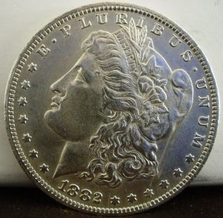 1882 - O $1 Morgan Silver Dollar 667 photo