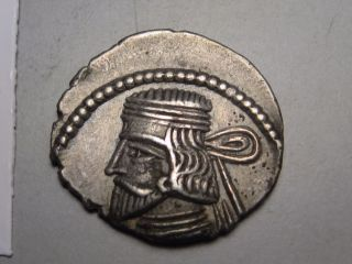 Parthia: Vardanes Ii,  Ad 55 To 58.  Silver Drachm.  Sellwood - 69.  3 photo
