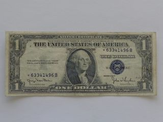 1935d $1 Star Silver Certificate Fr 1613n Vf, photo