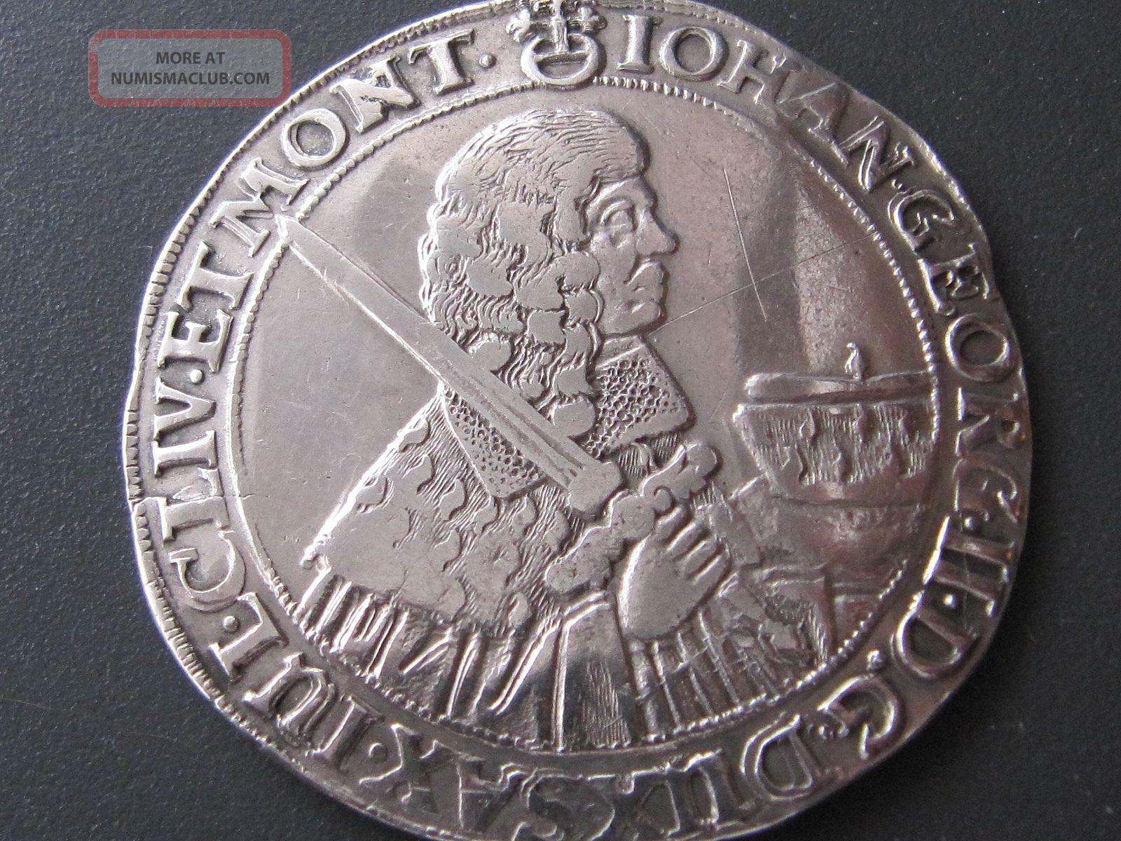 Rare 1664 - Cr German States Saxony - Albertini
