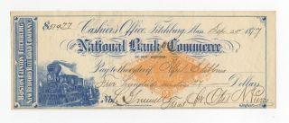 Boston,  Clinton,  Fitchburg And Bedford Railroad Check photo