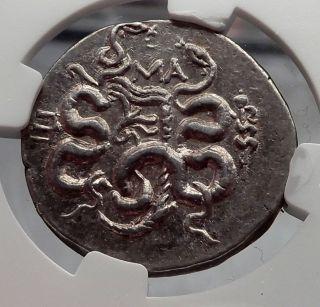 Pergamon Pergamum Mysia Silver Tetradrachm Ancient Greek Coin Cista Ngc I60123 photo