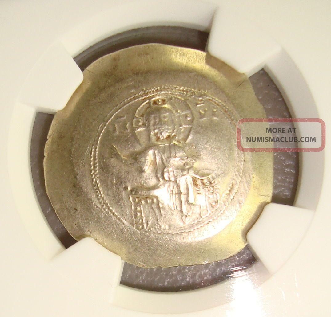 Ad 1078 - 81 Nicephorus Iii Ancient Byzantine Electrum Histamenon Nomisma Ngc Vf Coins: Ancient photo