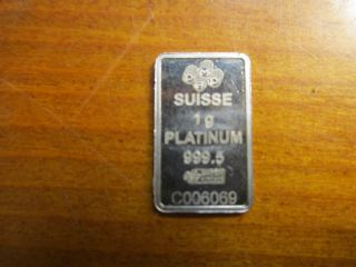 1 Gram Platinum Pamp Suisse Bar photo