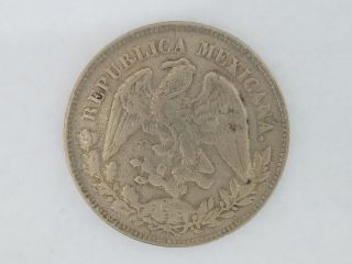 Rare 1905 1 Un Peso Mexico Silver Coin - 3229 photo