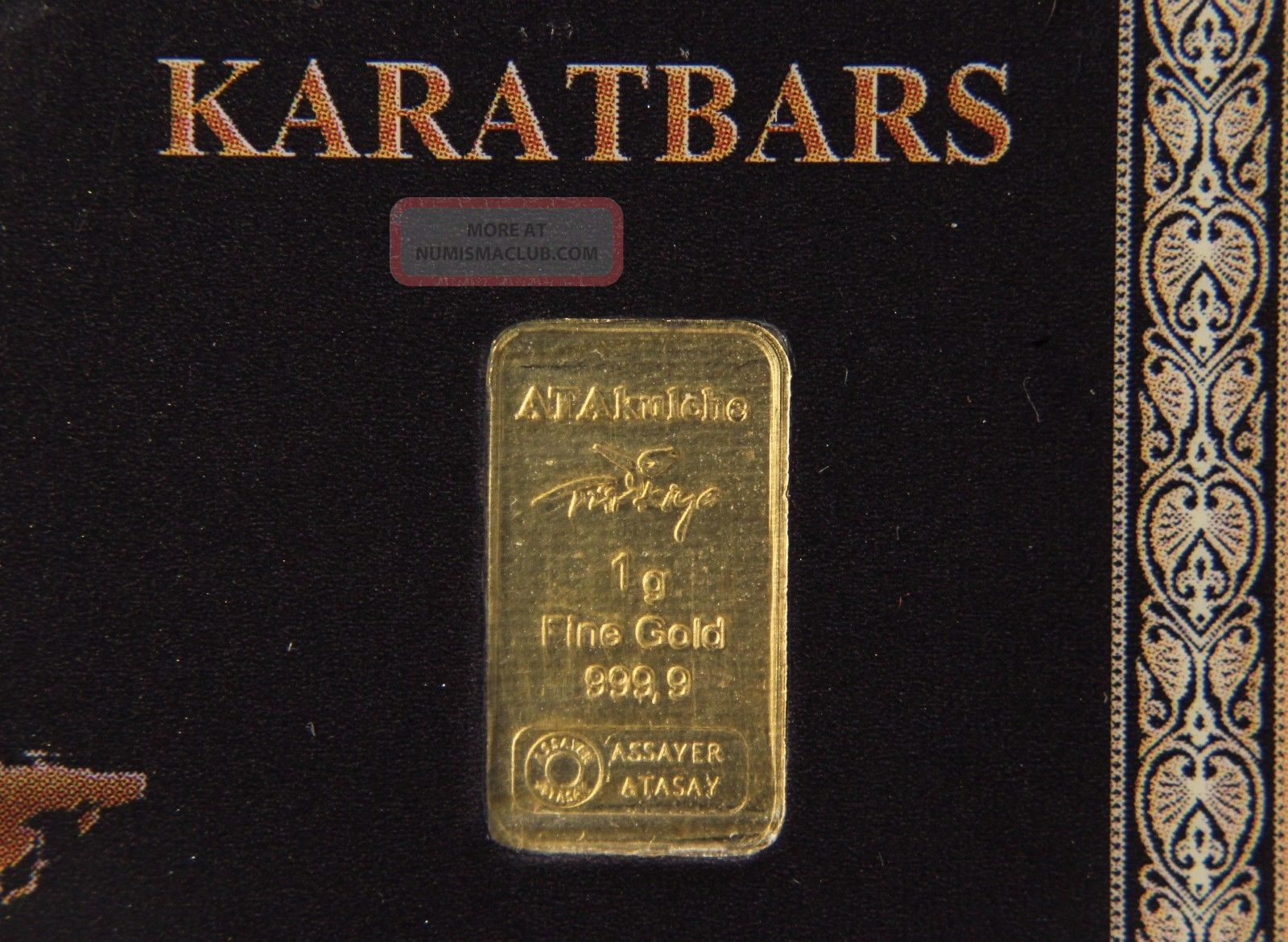 1 Gram Karatbars 999 Fine Gold Bar W Serial K1066