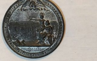 1893 Columbian Exposition Medal Christopher Columbus White Metal /zink photo