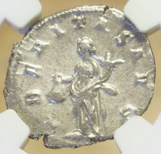 Year 249 - 251 Ad Silver Roman Empire Double Denarius Trajan Decius Coin Ngc Xf photo