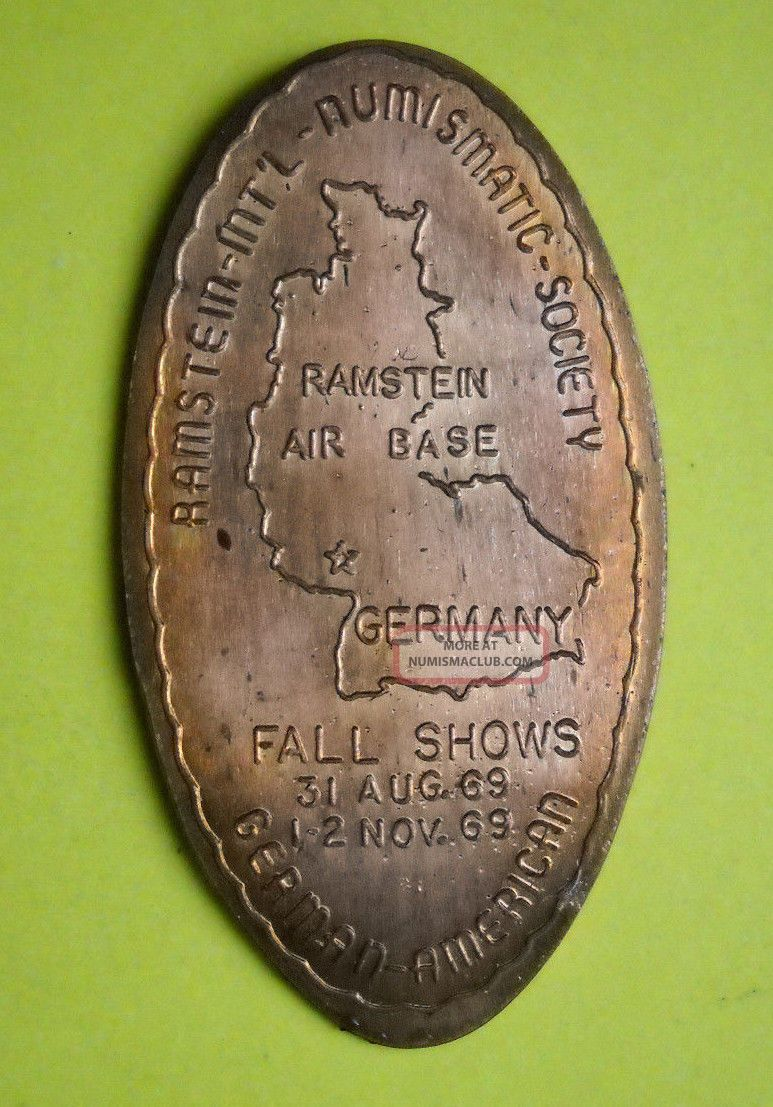 Ramstein Air Base Elongated Penny Usa Cent Germany Souvenir Coin Numismatics Exonumia photo