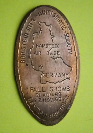 Ramstein Air Base Elongated Penny Usa Cent Germany Souvenir Coin Numismatics photo