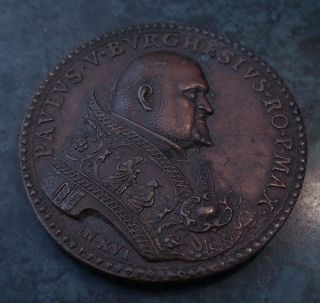 Rare Vatican Pope Paul V Paulus Burghesius Camillo Borghese 1619 An Xvi Medal photo