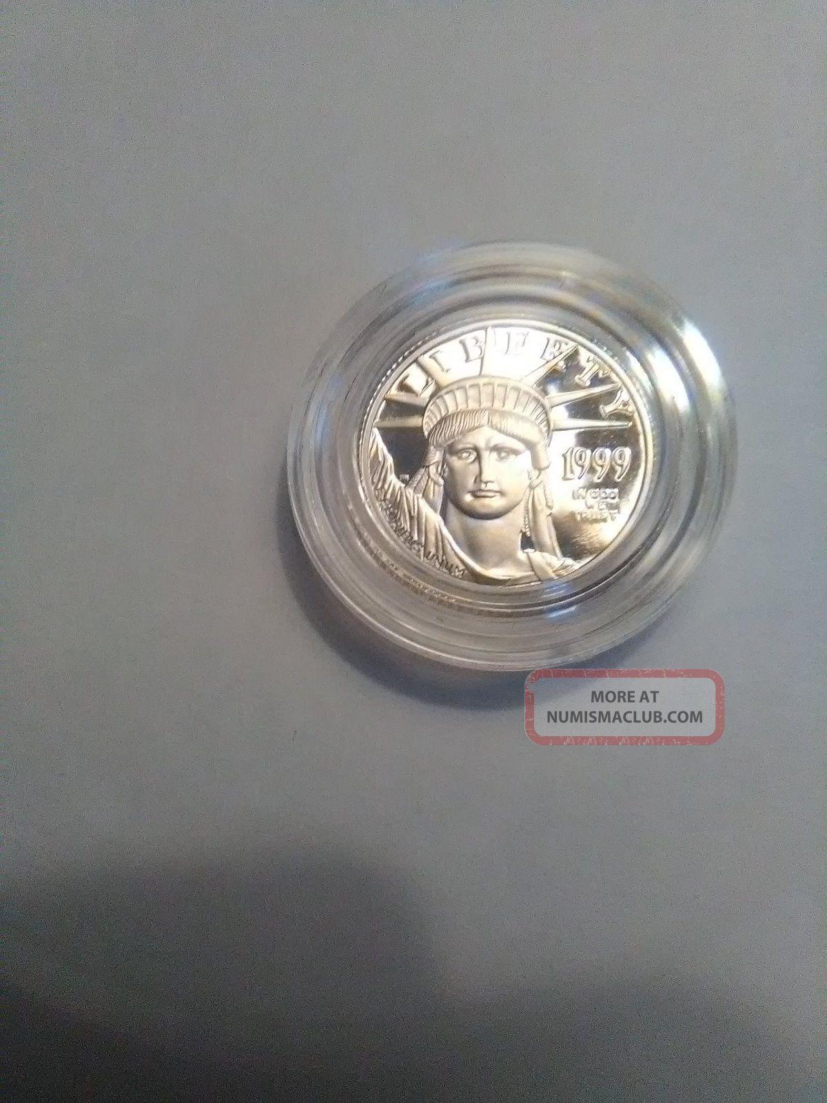 1999 - W 10$ Proof Platinum American Eagle Ultra Cameo. Platinum photo