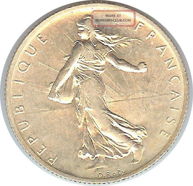 France - Iii Republic - 2 Franc 1914 Ch.  Unc - Silver France photo
