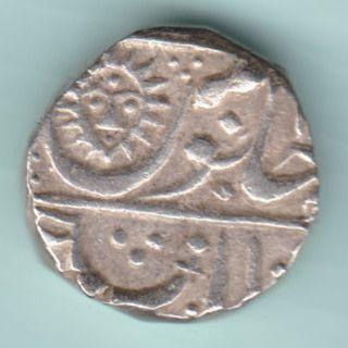 Indore State - Shahalam Ii - Shivaji Holkar - One Rupee - Rare Full Date Coin photo