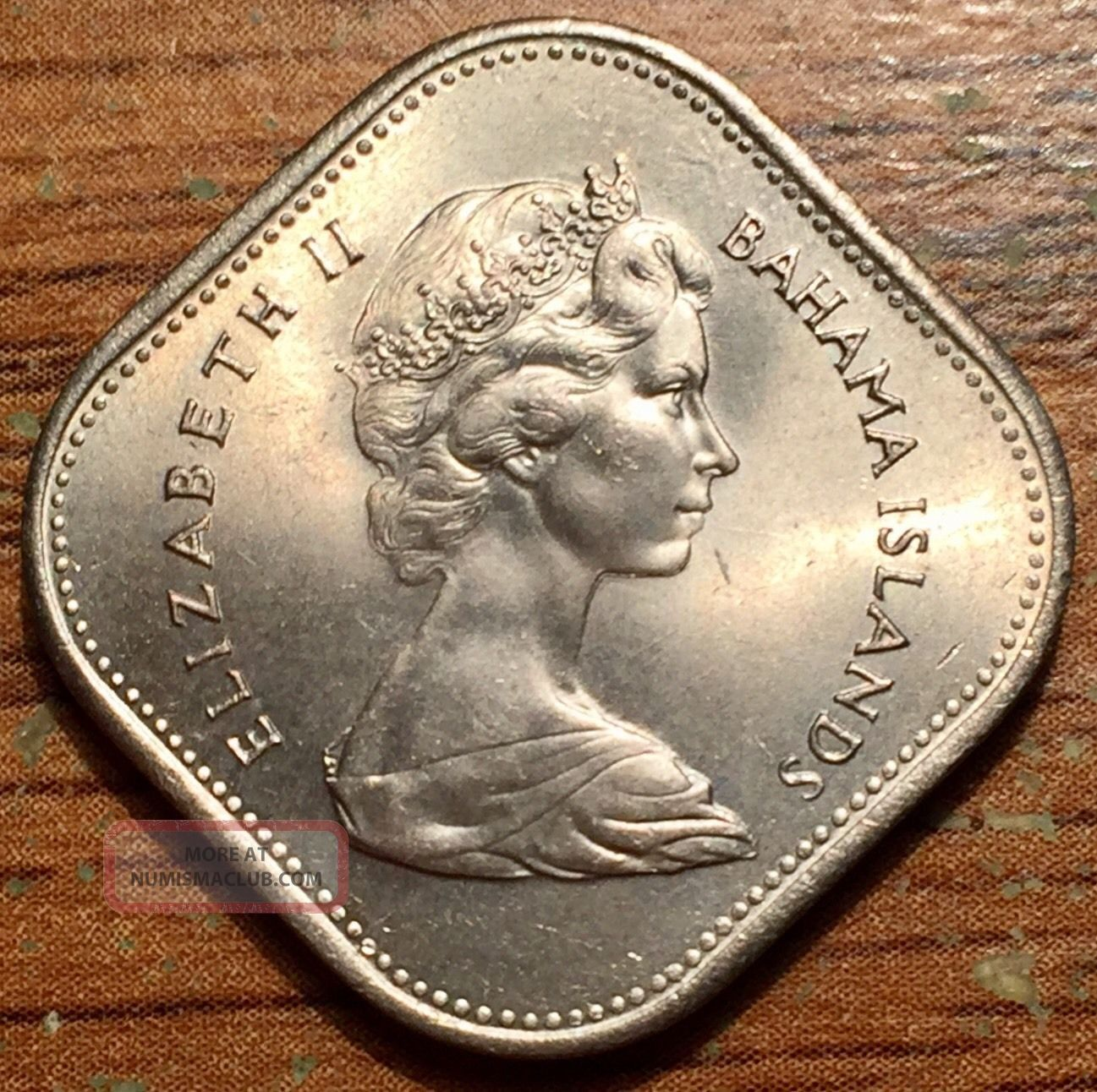 1966 Bahama Islands 15 Cents Queen Elizabeth Ii Coin