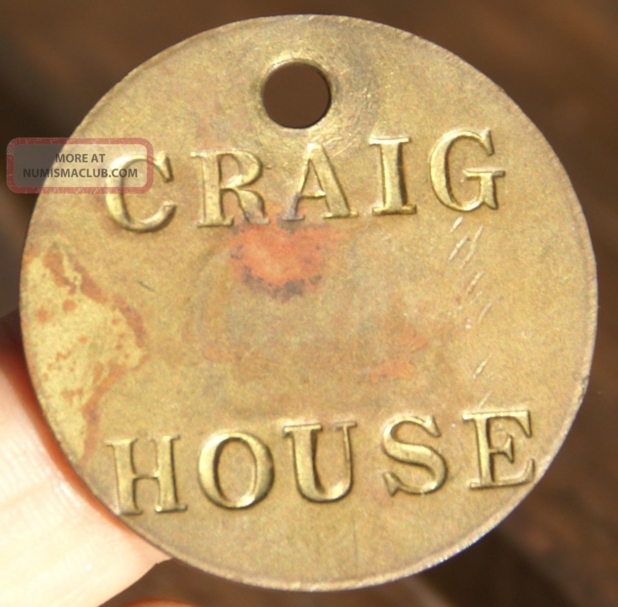 Craig House Institute Room Tag Tioronda,  Beacon,  York Asylum Token Exonumia photo