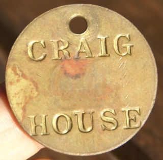 Craig House Institute Room Tag Tioronda,  Beacon,  York Asylum Token photo