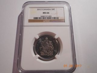 2012 Canadian 50 Cent Piece Graded Ms66 By Ngc photo