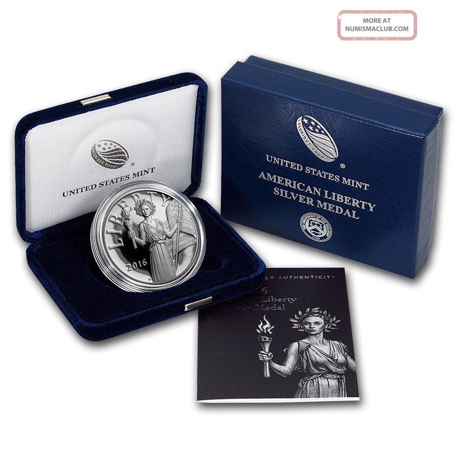 2016 W Silver Medal American Liberty Proof 1 Oz Fresh