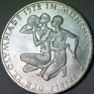 1972 F German 10 Marks Silver Coin Olympic Games Commemorative Munich Couple photo